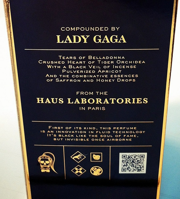 Haus Laboratories1 Lady Gaga's Fame Fragrance created by Coty