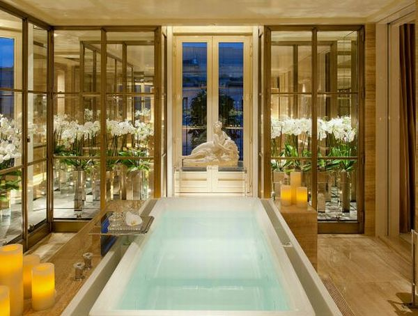 Most Luxurious Bath Four Seasons Hotel George V Paris Introduces Luxurious Penthouse Suite