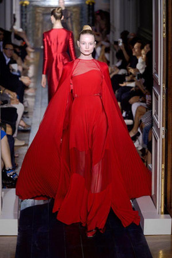 Valentino at a Paris Fashion Show