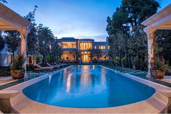 Mansion With Swimming Pool mohamed hadid's latest beverly hills mansion for $58 million