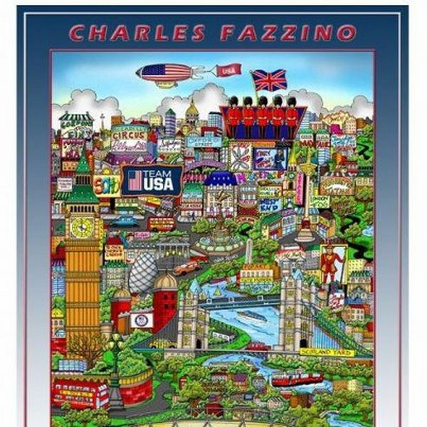 3D Work by Charles Fazzino London Olympics Expensive Items on Sale