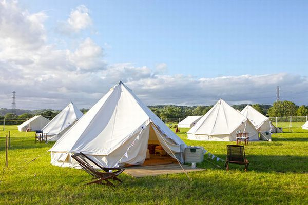 Luxury Tents at a Pop Up Hotel