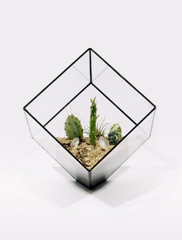 Sculptural Planters Small Cube Sculptural Planters Are Sculptures For Contemporary Homes