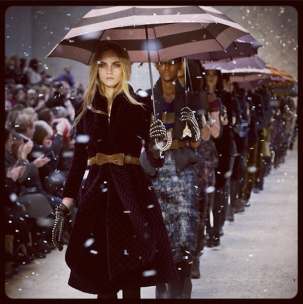 burberry is the top fashion brand on Instagram