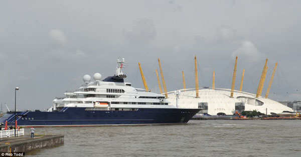 yacht olympics London Olympics 2012: Superyachts On The Thames