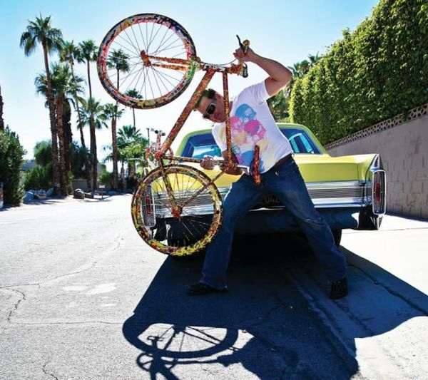 Jack Armstrong with his million dollar bike Jack Armstrong to Unveil $1 Million CosmicStar Cruiser ARTBike at Canada Fest