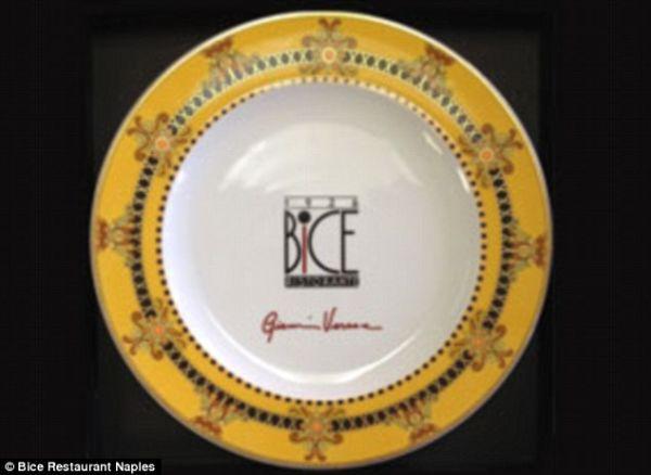 Gold Leaf Platter Designed by Versace