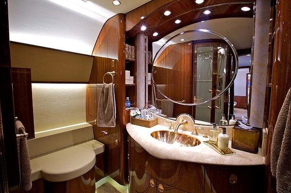 Bathroom on the Corporate Jet
