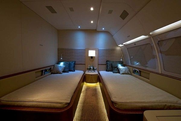Bedroom on the Corporate Jet