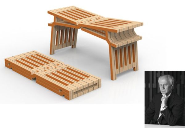Bench for Two by Clino Castelli