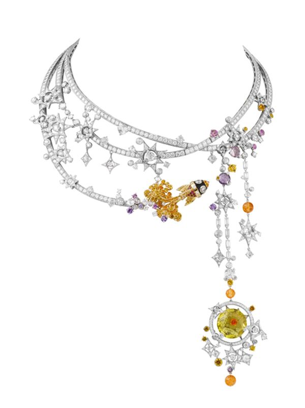 Van Cleef Arpels Tampa Necklace 'Out of this World, Jewelry in the Space Age' Exhibition by Forbes Galleries From March 16