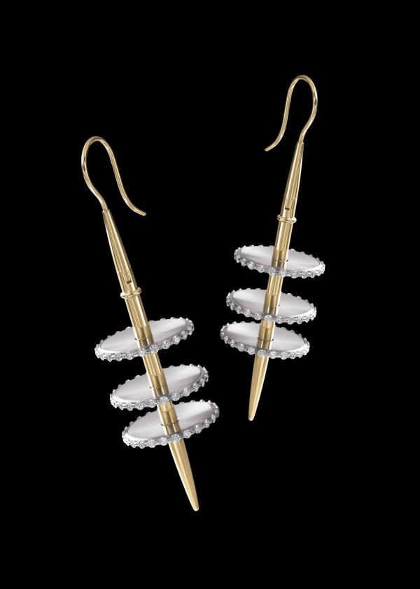 Venus Earrings by Steven Kretchmer 'Out of this World, Jewelry in the Space Age' Exhibition by Forbes Galleries From March 16