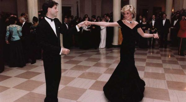 princess diana john travolta at the white house