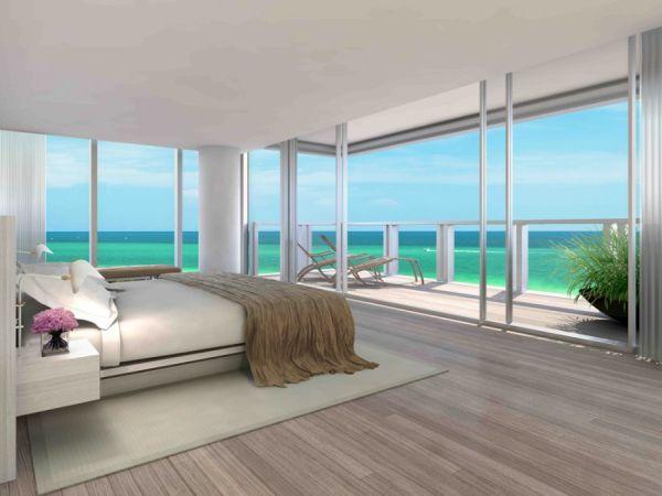 Bedroom with Floor to Ceiling Windows