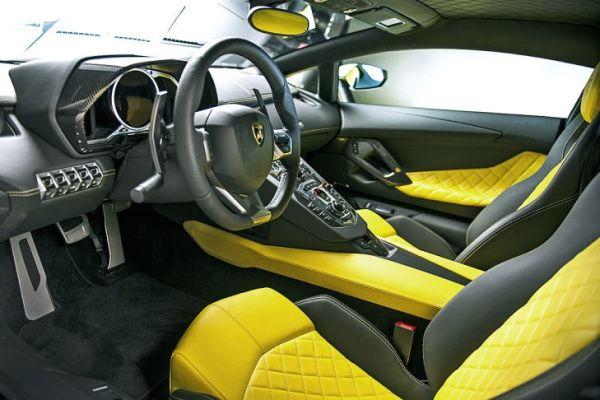 Interior of Lamborghini-Aventador-LP-720-4-50-Anniversario