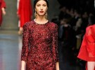 The Dolce & Gabbana dress on the runway during Milan fashion week in February