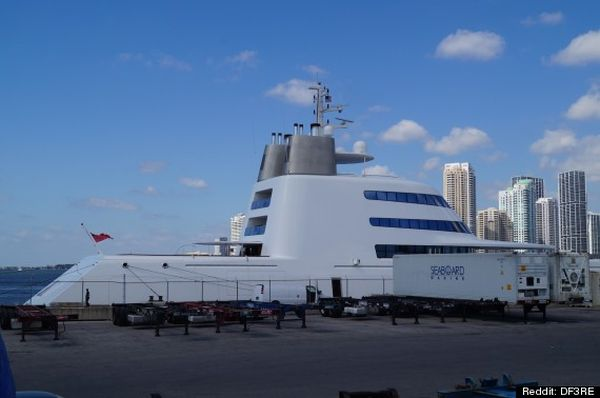 Yacht Designed by Philippe Starck Docked at Miami