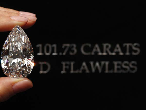 winston legacy biggest pear shaped diamond