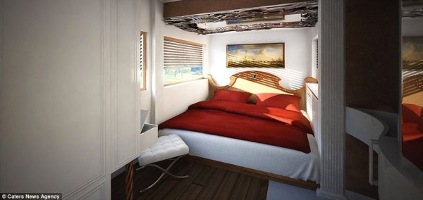 Master Bedroom in the Motor Home