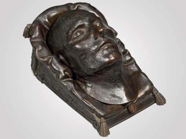 Bronze death mask of Napolean