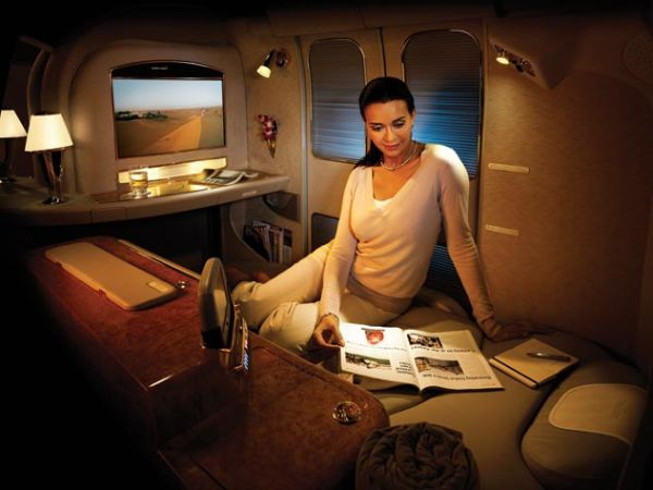 Ad of the Private Suite on Emirates Flight