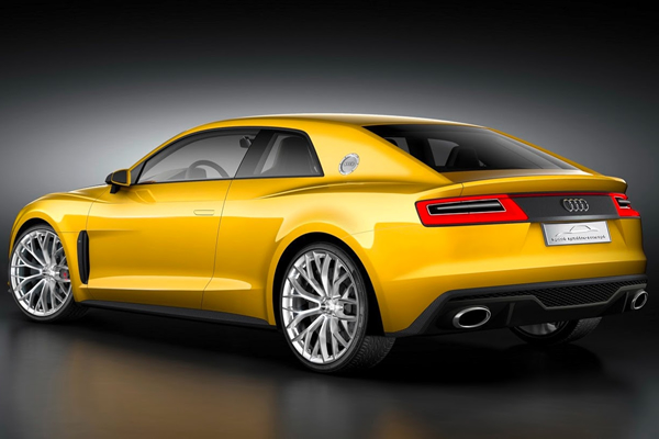 Rear View of Audi Sport Quattro Concept