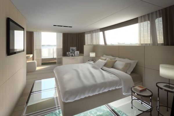 Glass Bottomed Bedroom