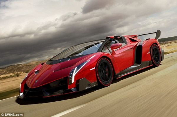 The Lamborghini Veneno Roadster