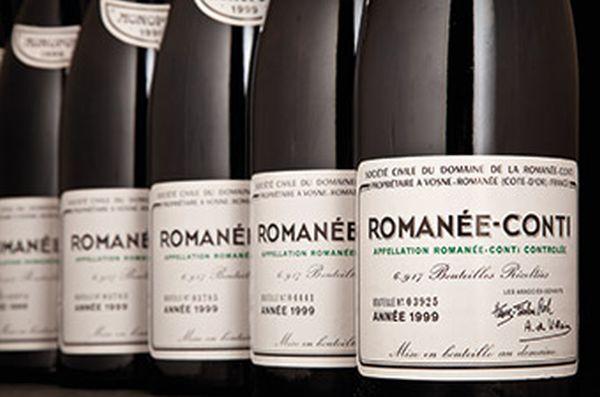 Bottles of Romanee-Conti