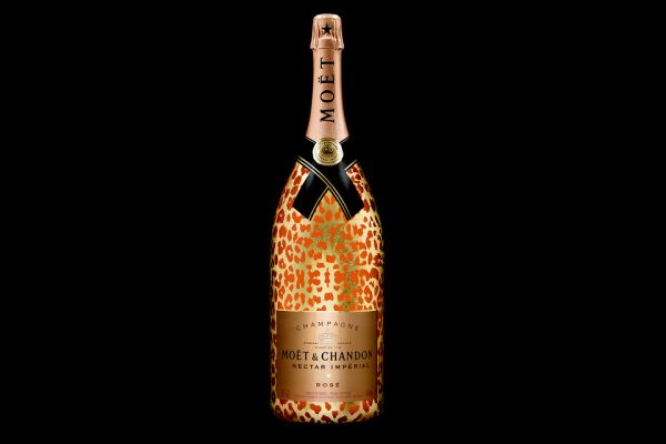 Moet Chandon's Nectar Imperial Rose Leopard Luxury Edition-in Methuselah