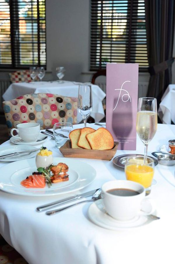 The Luxurious Breakfast Can be Washed Down With Champagne