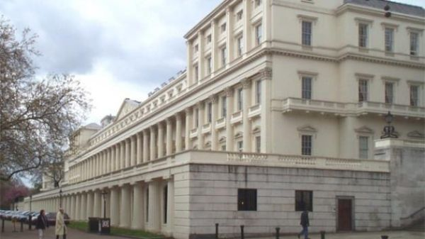 Exterior of 18, Carlton House Terrace