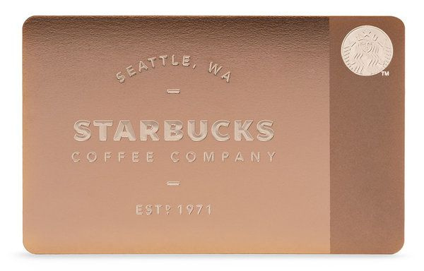 Starbucks All Metal Gift Card