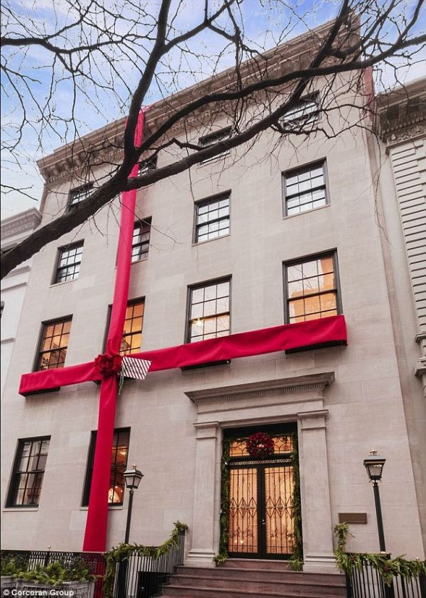 The Mansion Wrapped in a Bow for Christmas