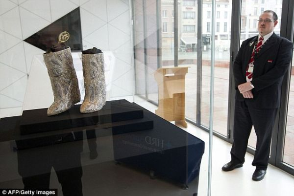 Expensive boots on Display