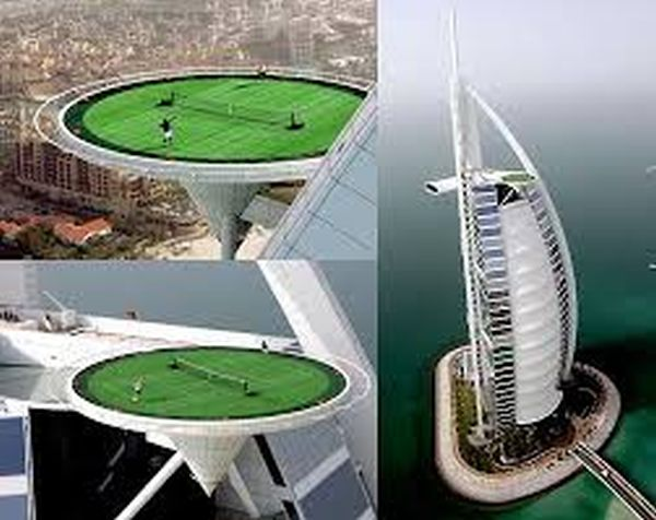 Teeniis Match on the Helipad and Burj Al Arab