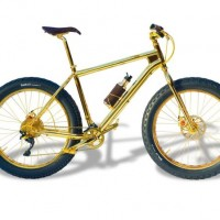 24 Carat Gold Bike Created by The House of Solid Gold