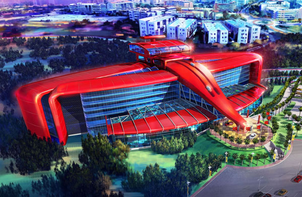 Artists Impression of the First Ferrari Hotel
