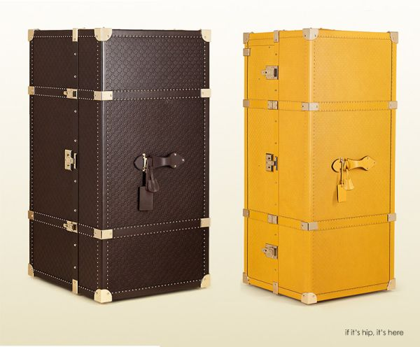Precious Leather Travel Trunks by Gucci