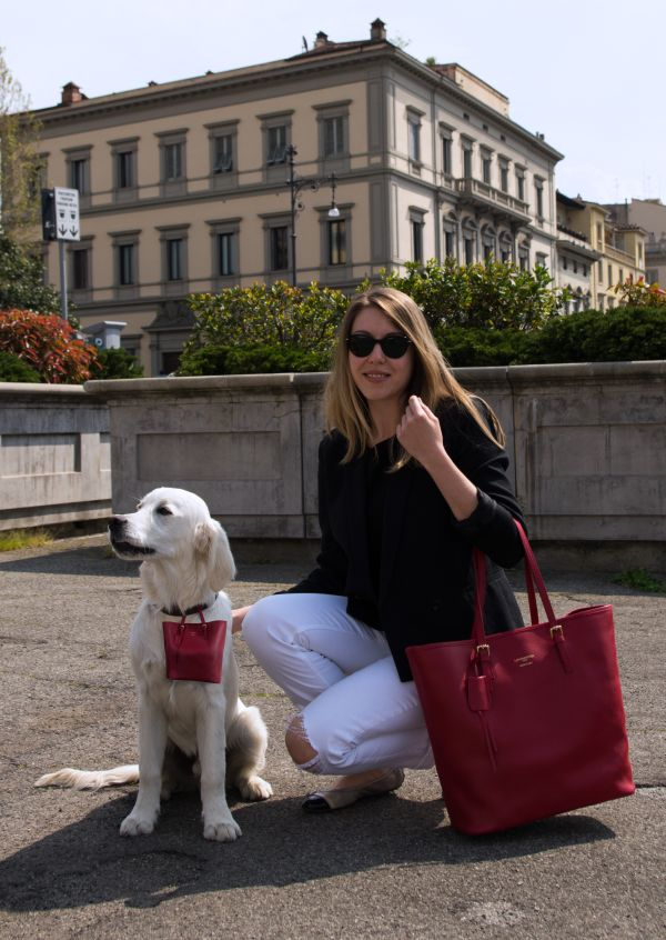The Pawbag is Custom Made to Match the Handbag Exactly