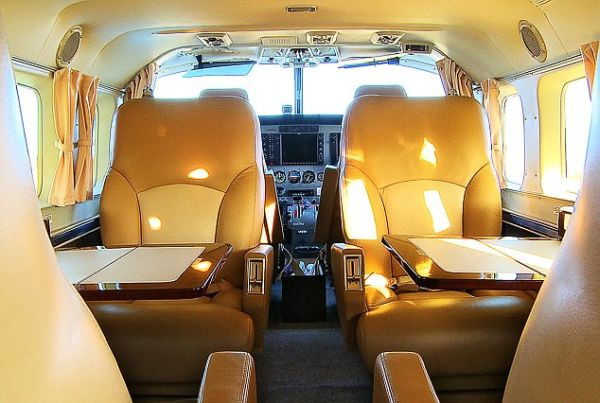 Lavishly Done Private Jet that will take the Golfers around