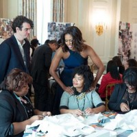 The First Lady at the Fashion Workshop