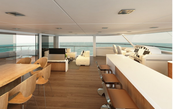 Flybridge With 360 degree Views
