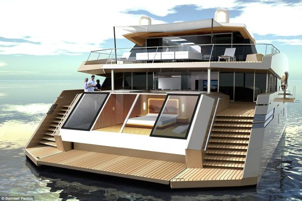 The Yacht includes a Sprawling Living Room Office Gymnasium