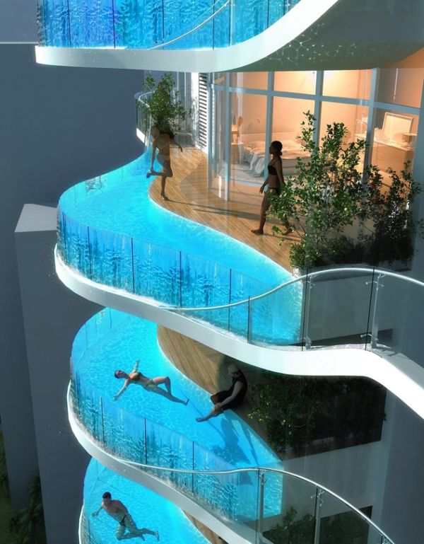 A Pool in Every Balcony in Bandra Ohm, Mumbai