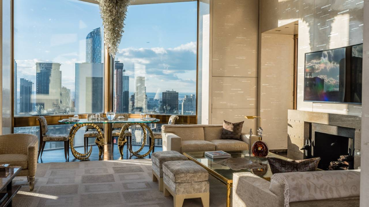 Manhattan's $50k Per Night Ty Warner Luxury Penthouse Suite